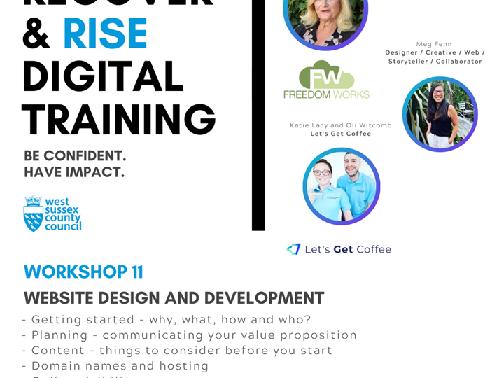 West Sussex Recover and Rise Digital Training - #11 Website Design and Development
